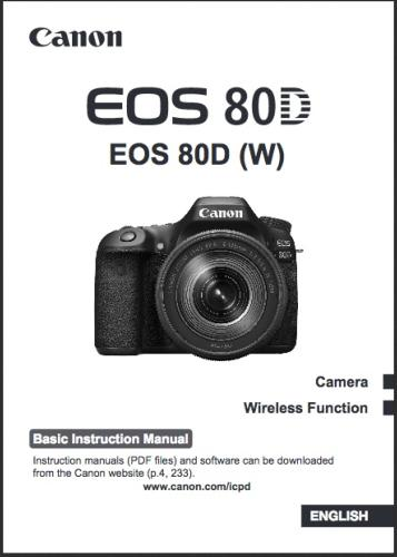 Canon EOS 80D manual kit