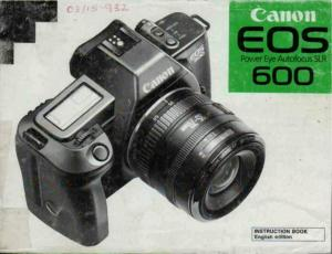 Canon EOS 600 instruction manual (reprint)