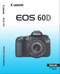 Canon EOS D60 instruction manual (reprint)