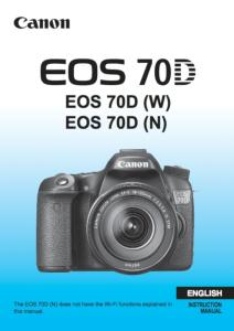 Canon EOS 70D instruction manual (reprint)