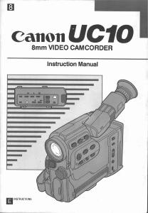 Canon UC10 instruction manual (reprint)
