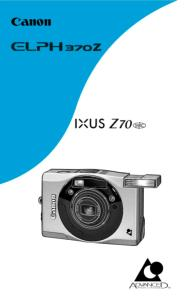 Canon IXUS Z70 instruction manual (reprint)