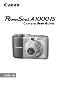 Canon PowerShot A1000 IS instruction manual (reprint)